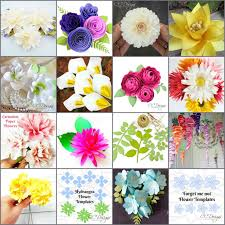 Paper Flower Designs Small Paper Flower Templates Tutorials Full Library Set Of 38 Templates