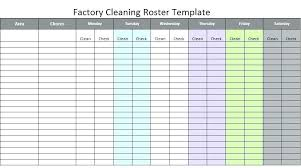 Cleaning Roster Template Oneskytravel Co
