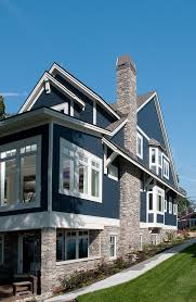 House Exteriors With Stone And Siding Set Property