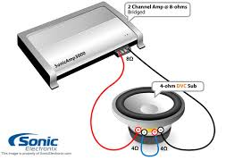 speaker wiring diagram 2 ohm 4 ohm Alpine Type R 10 2 Ohm Wiring Diagram