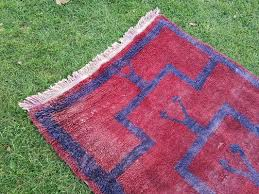 vintage turkish flokati rug 1970s 5