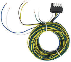 wesbar 002290 5 way flat connector assembly trailer end 40 ft wesbar 4 pin 5 wire diagram wesbar 002290 5 way flat connector assembly trailer end 40 ft wishbone harness 4 ft ground 5 ft auxiliary