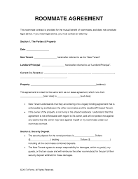 Roommate Rental Agreement Free Roommate Room Rental Agreement Template PDF Word eForms 1