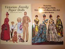 lot of 2 vtg pb books victorian family fashion harper s bazar paper dolls