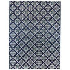 diamond trellis navy teal 7 ft 10 in x 9 ft 10 in
