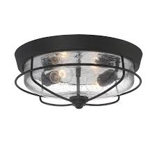 portfolio valdara 14 5 in w matte black outdoor flush mount light
