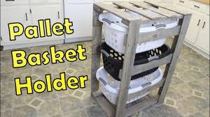 diy laundry basket holder organizer pallet projects