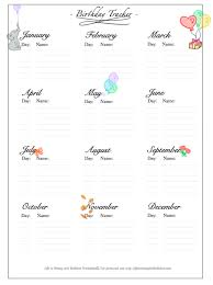 Birthday Planner Template Classy FREE Bullet Journal Birthday Tracker Printable In 48 Bujo