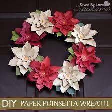 Christmas Paper Flower Wreath Make A Paper Poinsettia Wreath