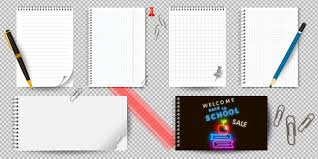 Page Binder Realistic Notebook Or Notepad With Binder Isolated Memo