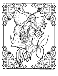 Small Picture Flower Fairy Coloring Page 6 Woo Jr Kids Activities