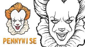 Comment Dessiner Le Clown Pennywise De A It Youtube