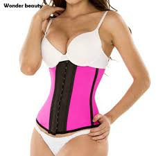 aliexpress latex waist trainer corset plus size steel bone workout waist cincher women slim body shaper girdles corsets from reliable trainer
