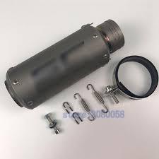 MOKALI Titanium <b>Motorcycle</b> Exhaust Inlet <b>51mm</b>/<b>61mm</b>/63mm ...