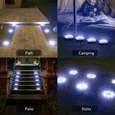 Patio Lights In Ground Agptek Solar Ground Lights 16 Led Disk Lights Solar Powered