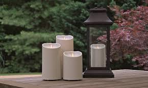 set of 2 luminara 5 flameless outdoor candles