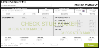 Paycheck Stub Layout How To Make A Pay Stub Check Stub Maker