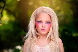 porcelain doll makeup child photography