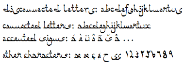 Arabic Name Calligraphy Generator Al Andalus An Arabic Style Font Arabic Simulation Font