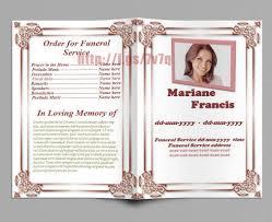 021 Template Ideas Free Editable Funeral Program Imposing
