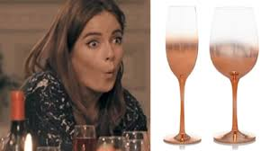 asda has released rose gold wine glasses and they re gorgeous pretty 52
