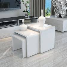 contemporary white coffee table white high gloss nest of 3 table wooden coffee table side modern contemporary white coffee table