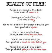 Life Quote Reality Of Fear In Life Information Education And Delectable Reality Life Quotes