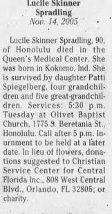 Obituary for Lucile Skinner Skinner (Aged 90) - Newspapers.com