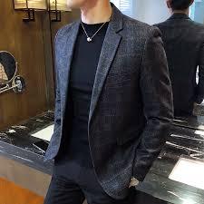 Spring plaid <b>suit</b> men's <b>small suit jacket</b> 2018 new Slim <b>Korean</b> ...