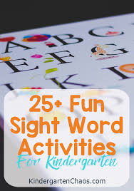 25+ Fun Sight Word Activities For Kindergarten