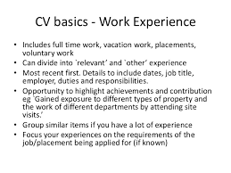 How To Write A Cv With Limited Work Experience