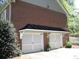 Metal Roof Portico Over Double Garage Doors Designed And Built By ...