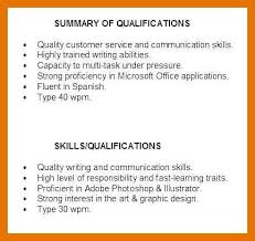 Examples Of Qualifications For Resumes 9 10 Qualifications In Resume Examples Juliasrestaurantnj Com