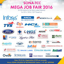 mega job fair 2016 sona college of technology m tamilnadu mega job fair 2016