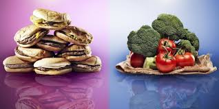 Healthy Vs Unhealthy Food Chart Health Tips Difference Between Healthy And Unhealthy Foods