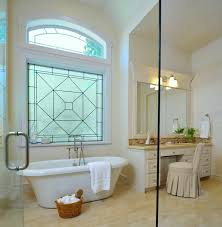 DIAMOND GRID Bathroom Windows - Frosted Glass Designs Privacy Glass modern- bathroom