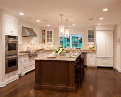 Walnut Kitchen Floor Pretty Modern Ceiling Pendant Lamps Over Large Kitchen Island And