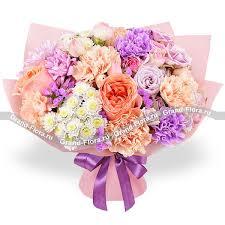 Купить акварель - <b>букет</b> из персиковых роз и <b>гвоздик</b>