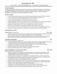 Project Manager Resume Templates New Great Electrical Engineer