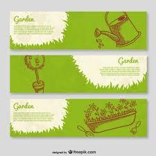 garden banners. Garden Banner Templates Free Vector Banners