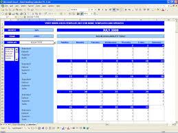 booking calendar excel templates