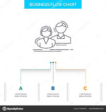 Student Employee Group Couple Team Business Flow Chart