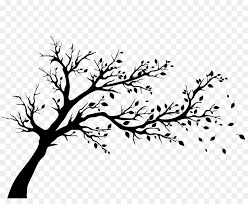tree silhouette wall decal autumn tree