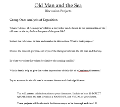 old man and the sea projects miss donnelly s daily apple a sample of my group project sheets this is for group one i adapted
