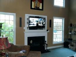 wall mounted tv where to put cable box above fireplace where to put cable box cable box over fireplace installation surround sound in above fireplace where