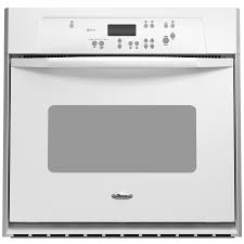 24 built in white single electric wall oven for attractive kitchen decor