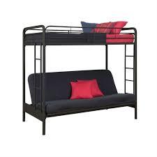 metal bunk bed futon. Twin Over Full Futon Bunk Bed Sleeper Sofa In Black Metal