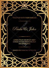 Royal Invitation Template Stylish Gold And Black Wedding Card Royal Vintage Wedding Invitation