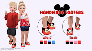 Miguel Creations TS4 - Handmad Loafers (Mickey and Minnie) | Sims 4  toddler, Sims 4 toddler clothes, Sims 4 cc kids clothing