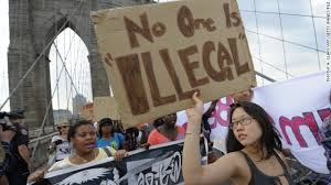illegal immigrant language a challenge during immigration debate protesters across new york 39 s brooklyn bridge in 2010 seeking the